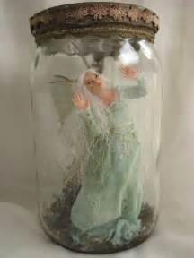 Captured Fairies in a Jar