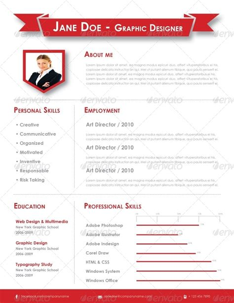 Graphic Design Resume Template Indesign by Indesign Resume Template By Carlos Fernando Graphicriver