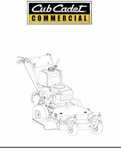 Cub Cadet Lawn Mower G 1236 User Guide