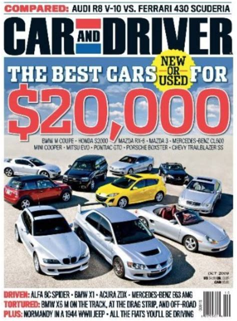 Car And Driver Magazine Just $250 A Year