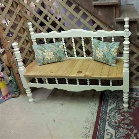 outdoor bed frame 46 best images about benches out of old headboards on pinterest