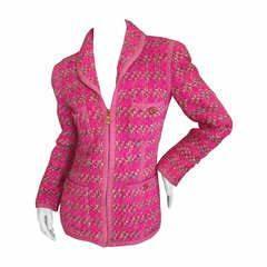 Fendi Reversible Broadtail Jacket with Chinchilla Collar