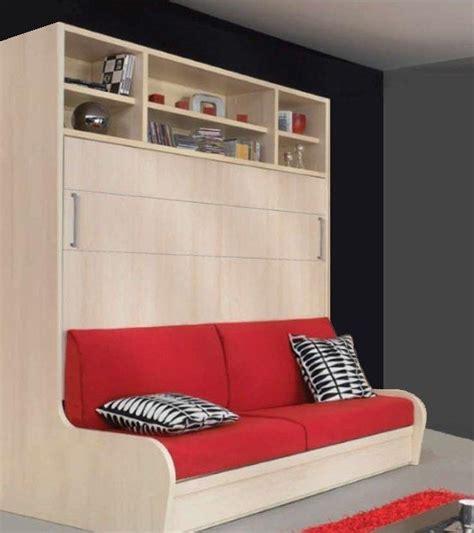 lit canapé escamotable armoire lit transversal autoporteur canape etageres