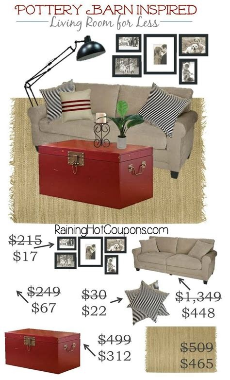 How Much Does Pottery Barn Pay by Pottery Barn Inspired Living Room Look For Much Less
