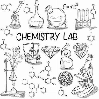 Lab Science Chemistry Equipment Sketch Drawing Drawings