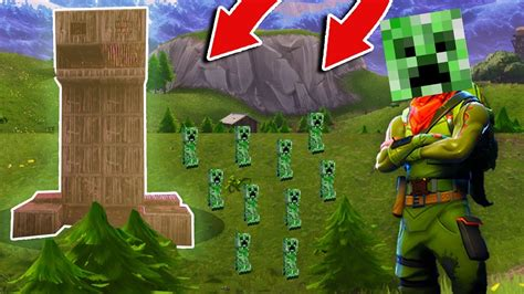 worlds biggest minecraft creeper  fortnite battle