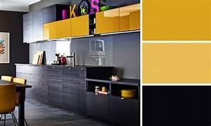 1000 idees sur le theme murs de la cuisine jaune sur With awesome quelle couleur avec le jaune moutarde 7 cuisine grise marie claire