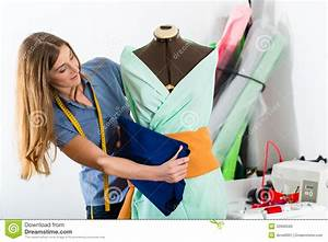 Fashion Designer Or Tailor Working In Studio Stock Image ...