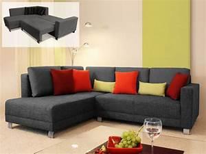 Canapé Angle Gris Chiné : photos canap d 39 angle tissu gris chin ~ Teatrodelosmanantiales.com Idées de Décoration