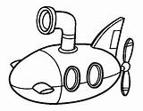Submarine Coloring Pages Coloringcrew Easy Submarines Printable Ocean Vbs Force Air Vehicles Submerged Yellow Sheets Getdrawings Under sketch template