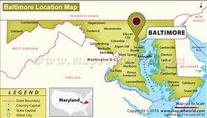 Baltimore Maryland On Us Map | Cdoovision.com