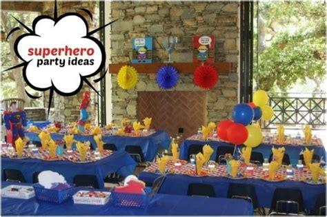 superhero themed birthday party   year  boys