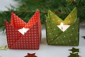 Basteln Mit Papier Anleitung : origami teelichthalter ~ Frokenaadalensverden.com Haus und Dekorationen