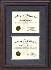 burl hardwood double certificate frame wordyisms With dual document frame