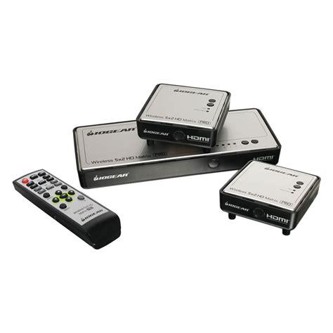 range wireless iogear 174 gwhdms52mbk2 range wireless 5x2 hdmi matrix pro with 1 additional receiver