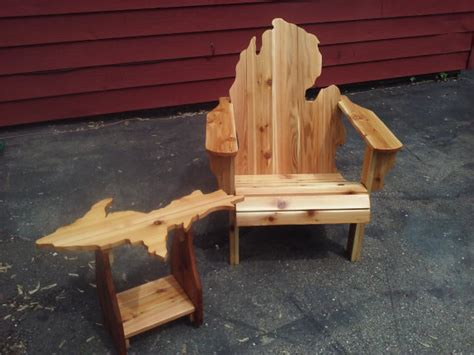 michigan adirondack chair and peninsula table michigan