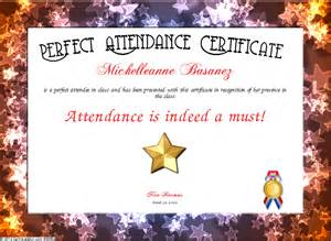 perfect attendance template