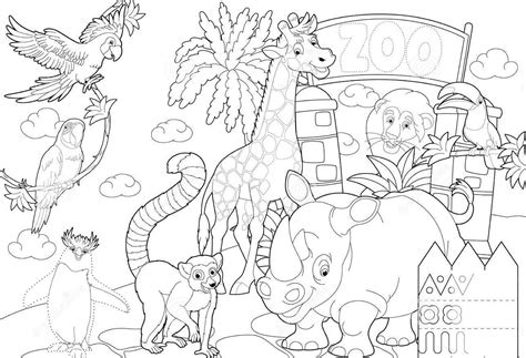 Zoo Entrance Coloring Page