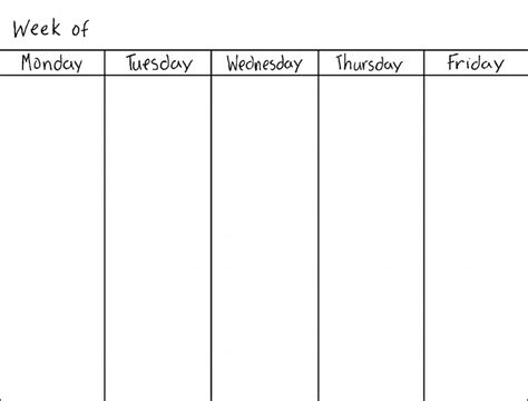 calendar templates weekly blank weekly calendars printable activity shelter
