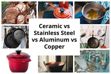 ceramic  aluminum  stainless steel  cast iron  copper cookware crystals cookery hub