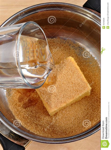 some water with butter and brown sugar stock image image