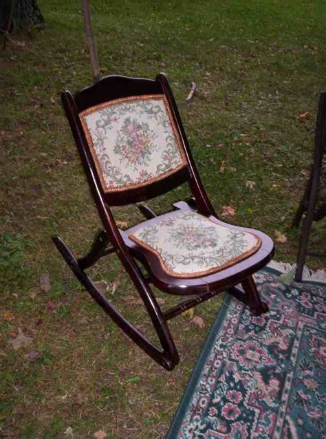 vintage folding rocking chair home furniture design