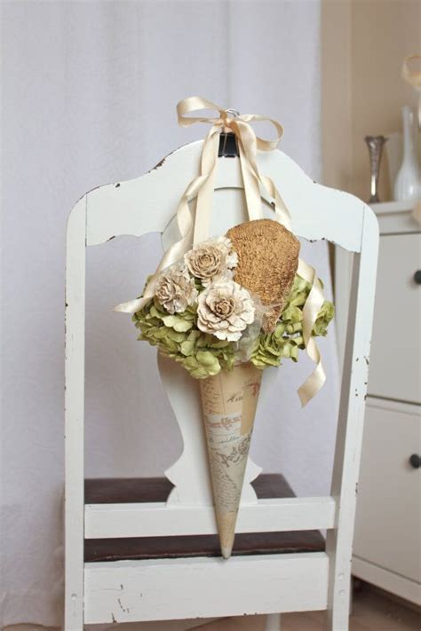 Wedding Pew Flower Cone Decorations