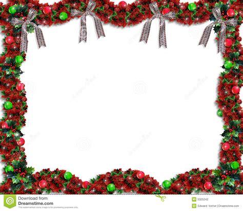 christmas garland background  border stock illustration