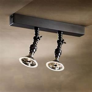 Spot Orientable Plafond : double spot orientable mur ou plafond bronze vieilli ~ Premium-room.com Idées de Décoration