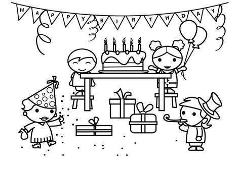 Dibujo para colorear cumpleaños Dibujos Para Imprimir Gratis