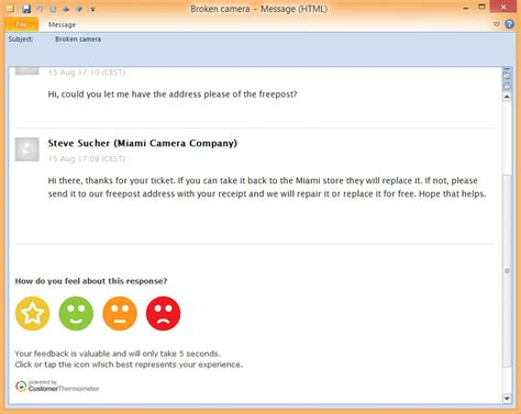 Customer Support Email Template by Zendesk Customer Satisfaction Survey Support Ticket Survey