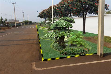 gambar desain taman kantor ibad garden