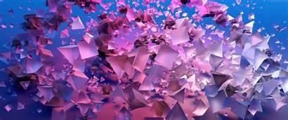Violet 4k 3d Horizontal Pyramids