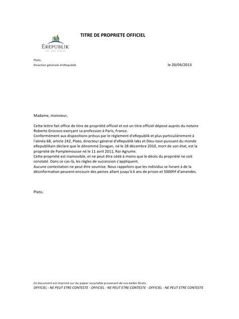 titre de propriete officiel pdf par aur 233 lien fichier pdf