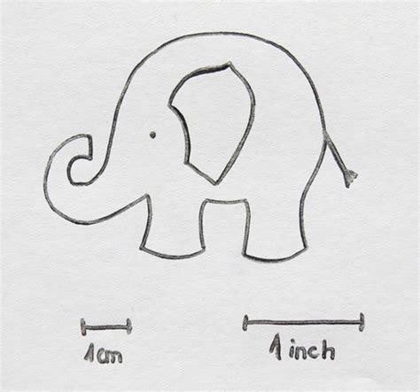 elephant cookie template
