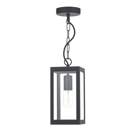 black rectangular box shaped ceiling pendant light or