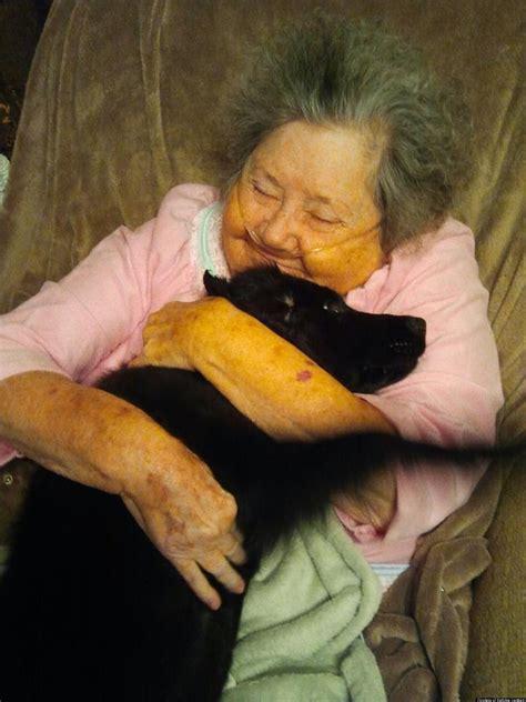 photo  granny hugging dog  reddit    sweet