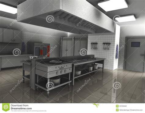 cuisine plus 3d 3d rendent de la cuisine professionnelle de restaurant
