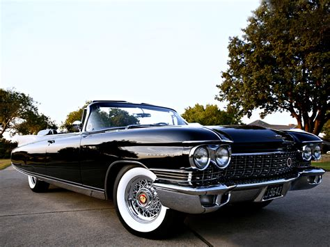 Cadillac Eldorado Convertible Black Road Classic Old