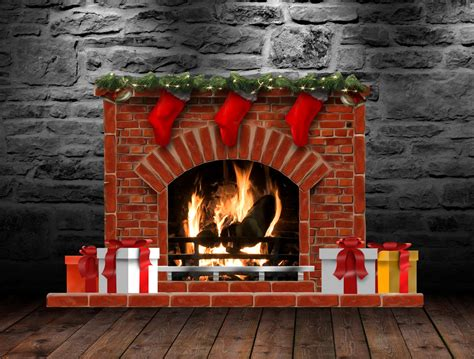 Christmas Fireplace (animated) For Xwidget By Jimking On