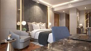 3d, Bedroom, Design, Modern, Luxury