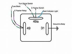 Three Prong 6 Volt Turn Signal Flasher Wiring Diagram