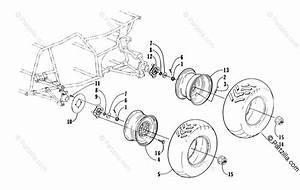 Arctic Cat Atv 2000 Oem Parts Diagram For Wheel And Tire