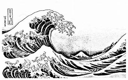 Wave Coloring Pages Kanagawa Japan Adult Adults