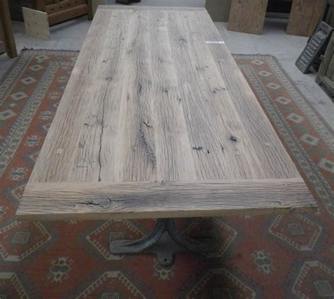 facade meuble cuisine fabrication table en vieux bois