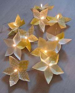 Guirlande Lumineuse Fleur : guirlande lumineuse origami fleurs origami ~ Teatrodelosmanantiales.com Idées de Décoration