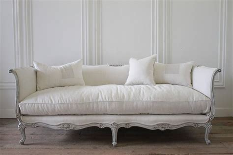 20th Century French Louis Xv Daybed Style Sofa Upholstered