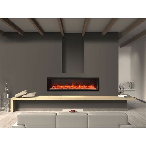 Panorama Black 60 Inch Deep Electric Fireplace Amantii