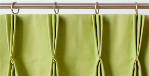 Pleated Drapes With Hooks - a guide to styles of curtain headings