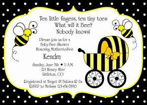 Bumble Bee Baby Shower Invitation Birthday Party Ideas